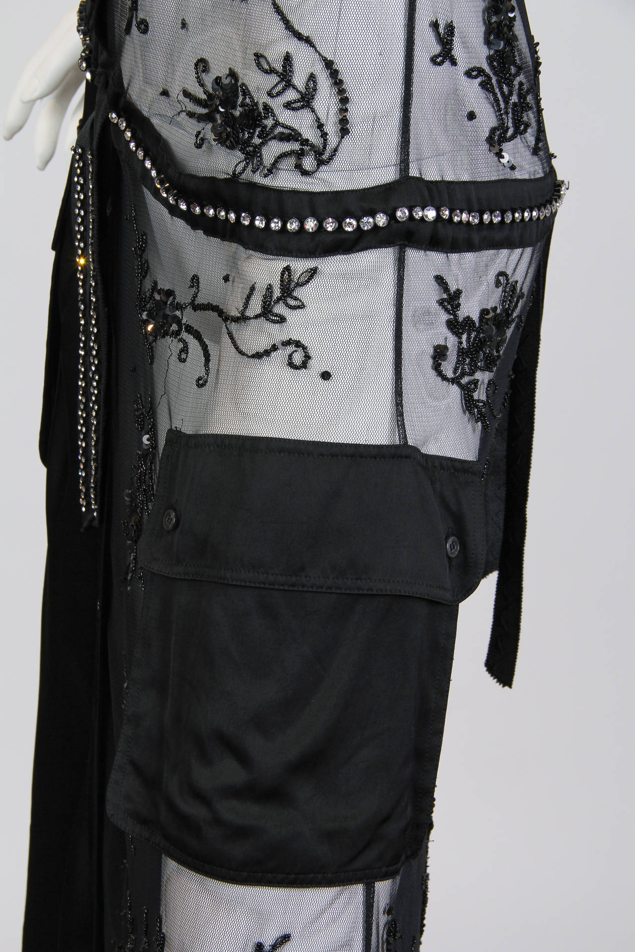 Deconstructed Moschino Asymmetrical Beaded Dress For Sale 2