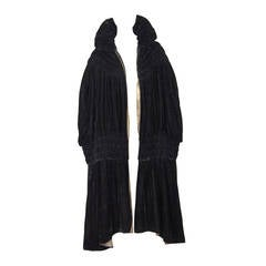 1905 -1920s Poiret-Inspired Lamé Lined Silk Velvet Cloak