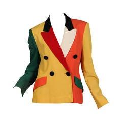 Moschino Colour-Blocked Blazer