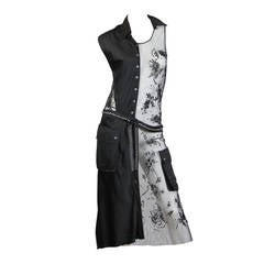 Deconstructed Moschino Asymmetrical Beaded Dress