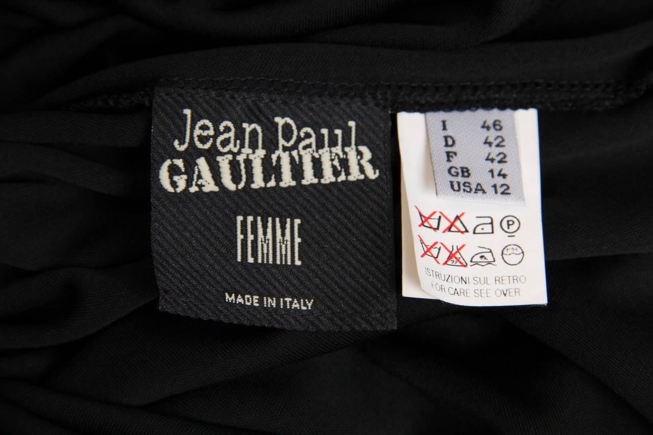 Jean Paul Gaultier Jersey Zipper Dress with Hood For Sale 5