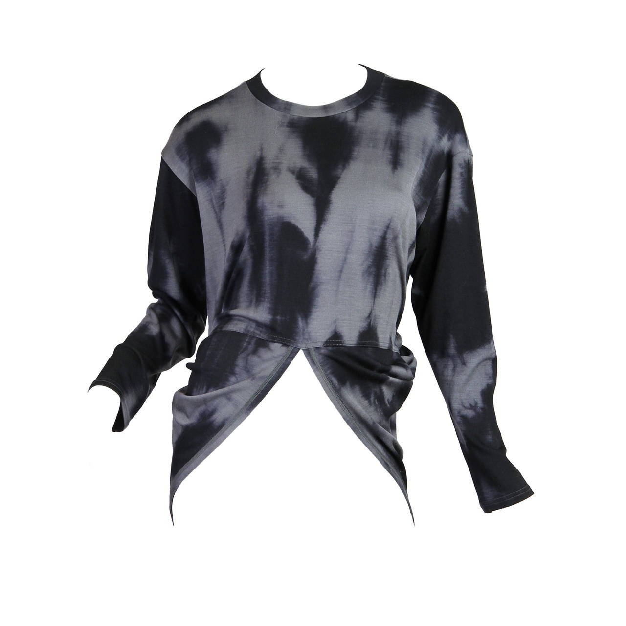 Issey Miyake Permanente Tie-Dye Punk Sweater For Sale