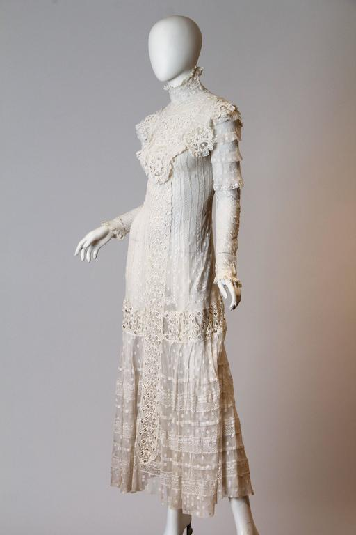 Late Victorian Lace Tea Dress 2