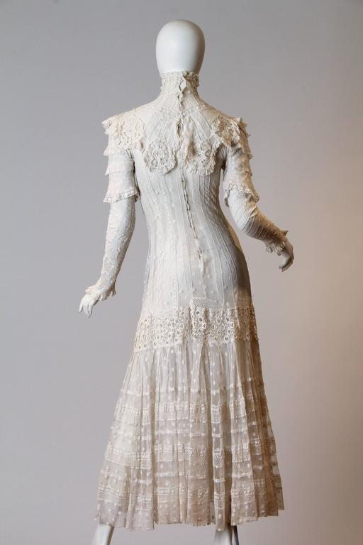 Late Victorian Lace Tea Dress 4
