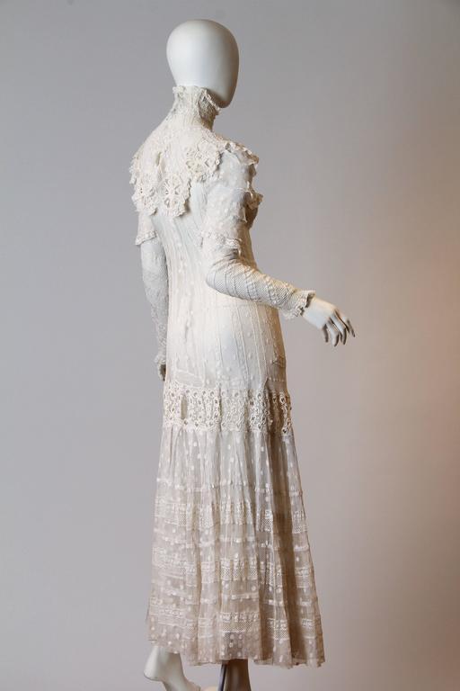 Late Victorian Lace Tea Dress 3