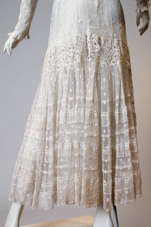 Late Victorian Lace Tea Dress 7