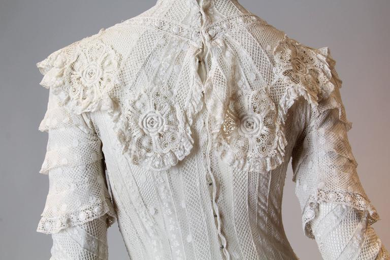 Late Victorian Lace Tea Dress 9