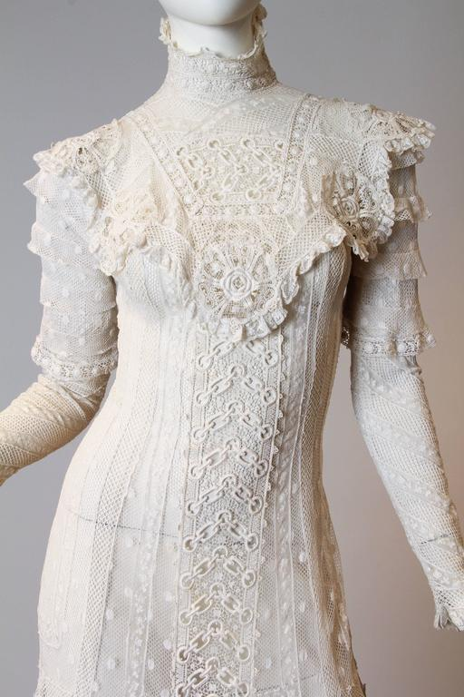 Late Victorian Lace Tea Dress 6