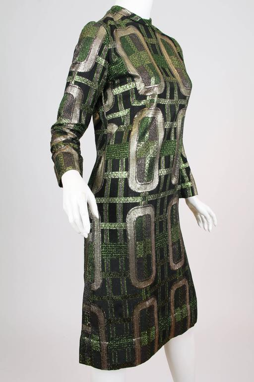 Women's 1970s Lamé Dress For Sale