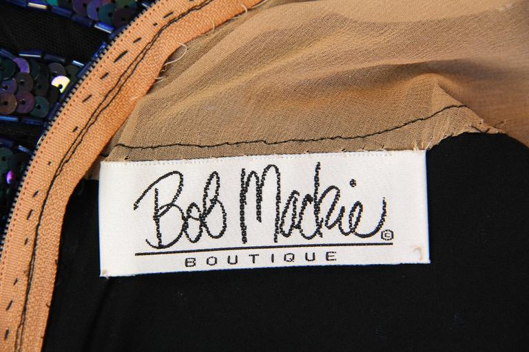 Bob Mackie Beaded Gown For Sale 6