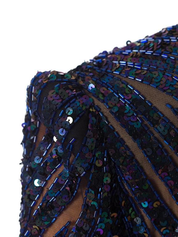 Bob Mackie Beaded Gown For Sale 4