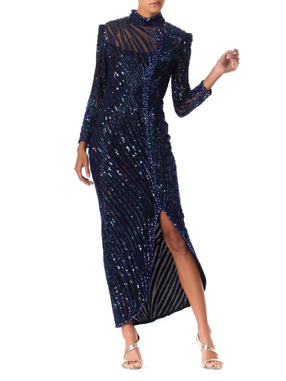 Bob Mackie Beaded Gown In Excellent Condition For Sale In New York, NY