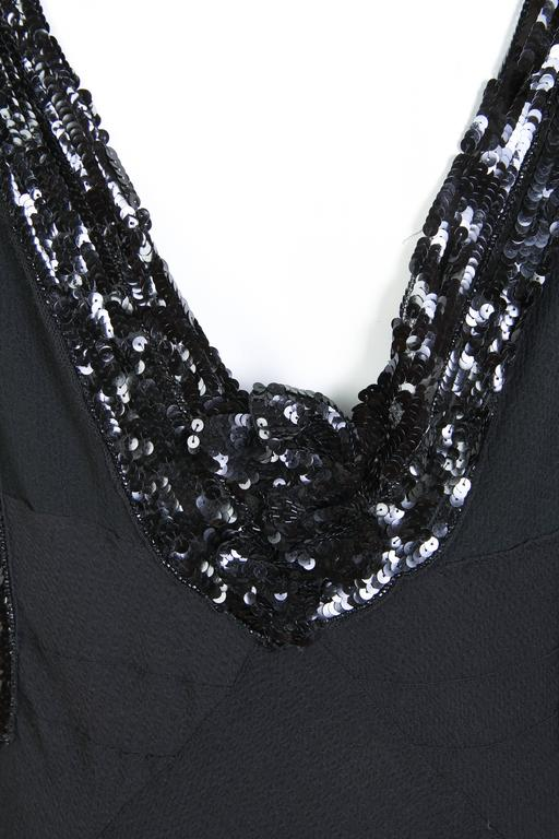 Bias Cut 1930s Gown with Sequin Sleeves 10