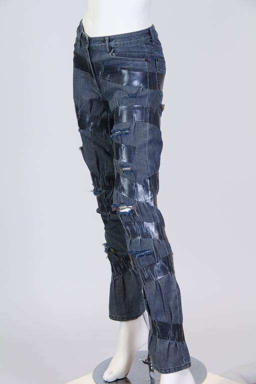 "Martin Margiela Deconstructed ""taped"" Jeans  4"