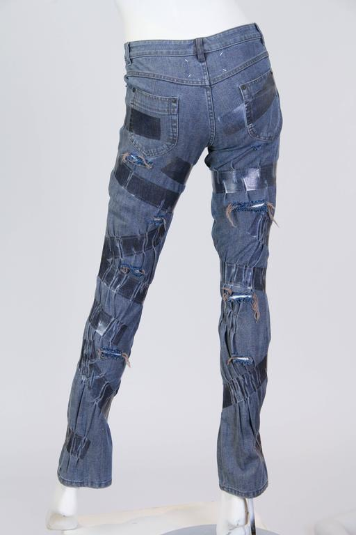 "Martin Margiela Deconstructed ""taped"" Jeans  3"