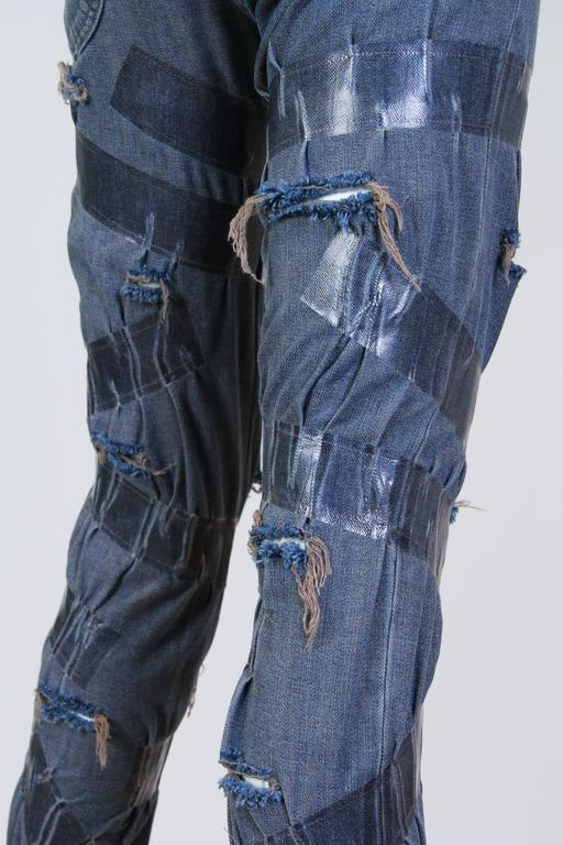 "Martin Margiela Deconstructed ""taped"" Jeans  7"