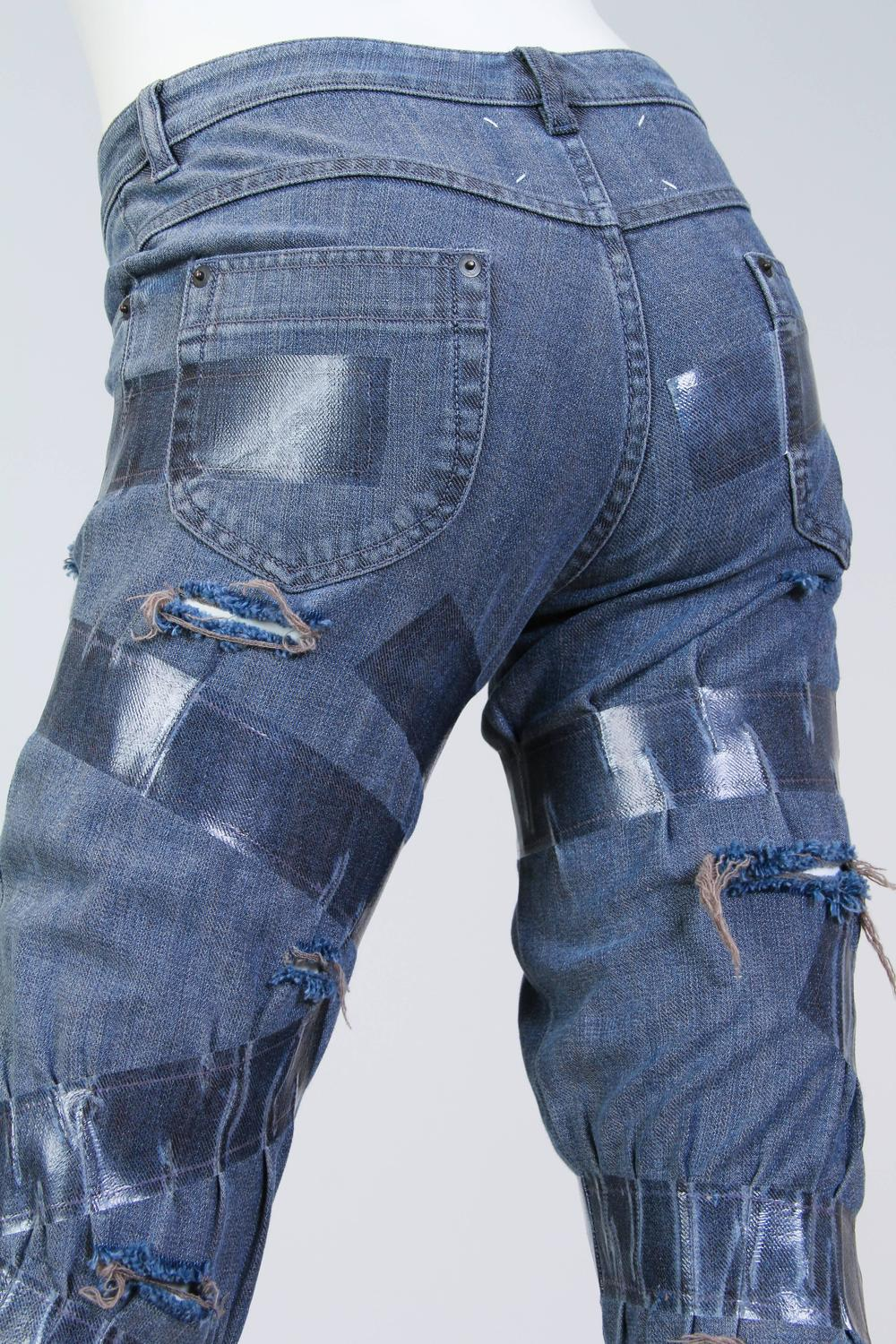 Martin Margiela Deconstructed Quot Taped Quot Jeans For Sale At