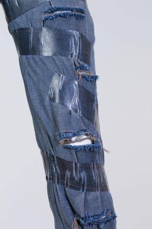 "Martin Margiela Deconstructed ""taped"" Jeans  5"