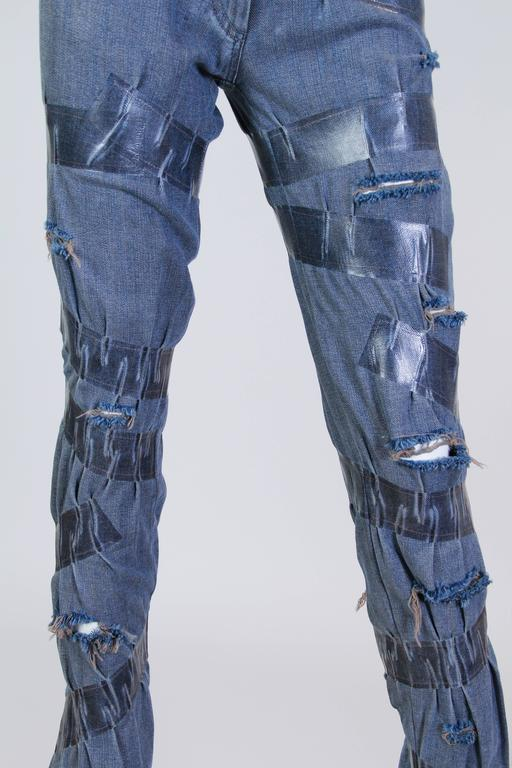 "Martin Margiela Deconstructed ""taped"" Jeans  6"
