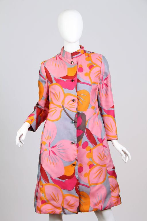 1960s Bill Blass Floral Coat 2
