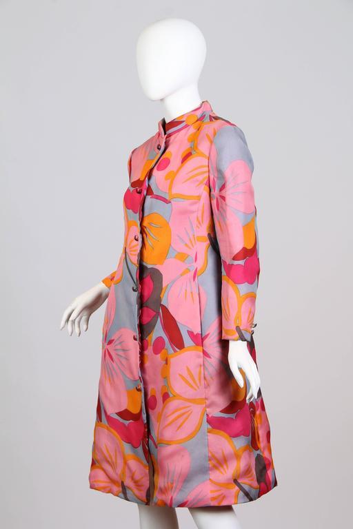 1960s Bill Blass Floral Coat 4