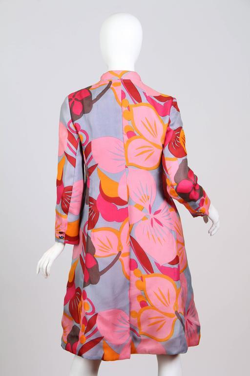 1960s Bill Blass Floral Coat 5