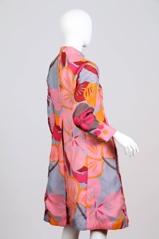 1960s Bill Blass Floral Coat 3