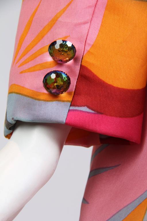 1960s Bill Blass Floral Coat 6