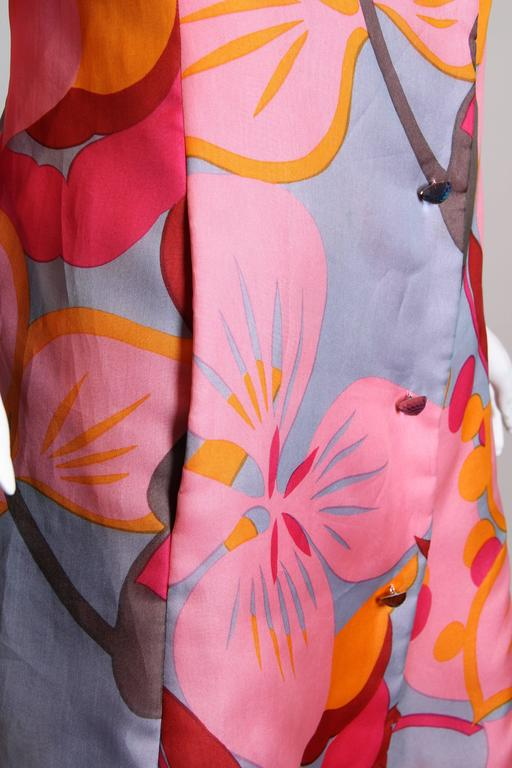 1960s Bill Blass Floral Coat 9