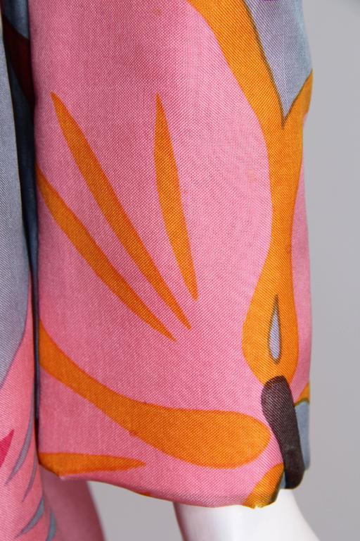 1960s Bill Blass Floral Coat 8