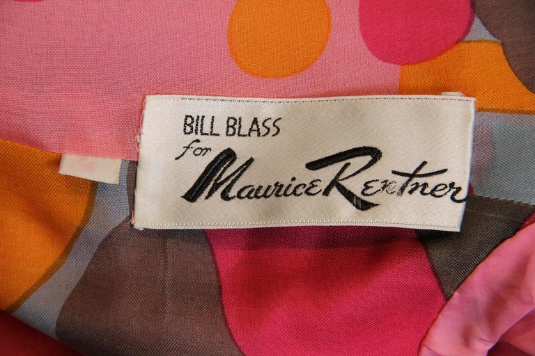 1960s Bill Blass Floral Coat 10