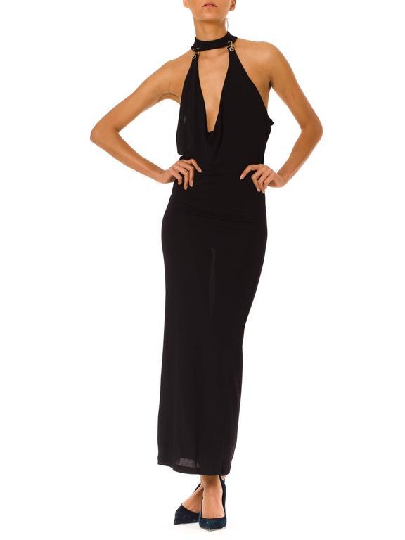 Paco Rabanne Jersey Halter Dress 3