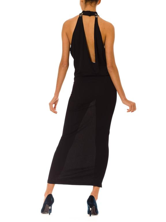 Women's Paco Rabanne Jersey Halter Dress For Sale