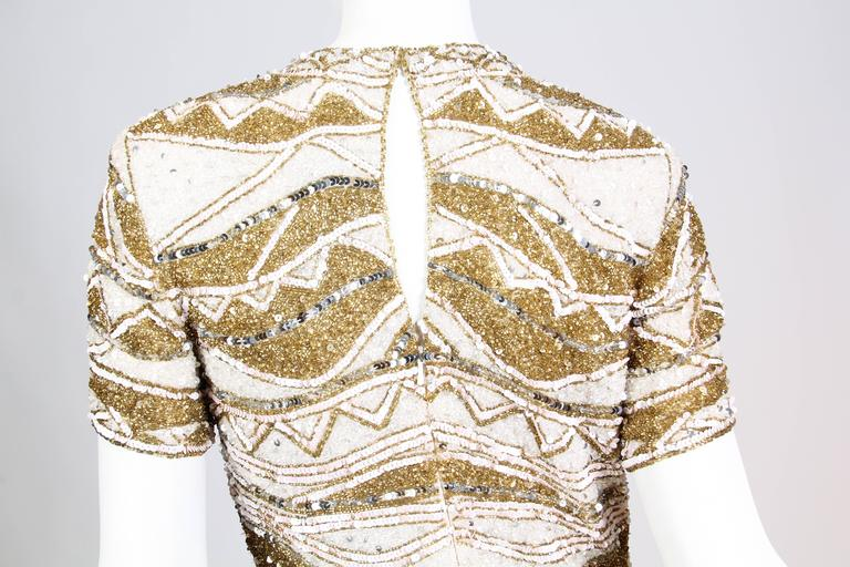 Naeem Khan Bead Encrusted Cocktail Dress For Sale 4