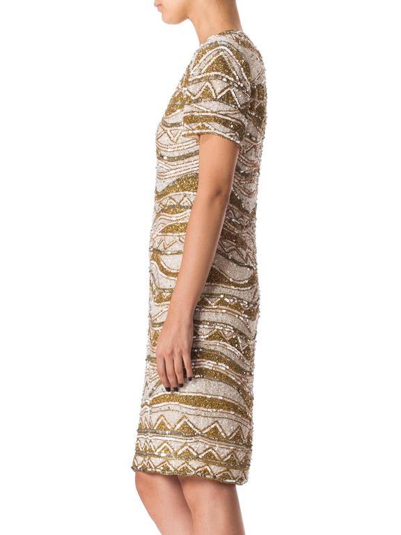 Women's Naeem Khan Bead Encrusted Cocktail Dress For Sale