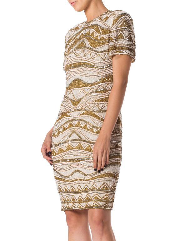 Naeem Khan Bead Encrusted Cocktail Dress For Sale 1