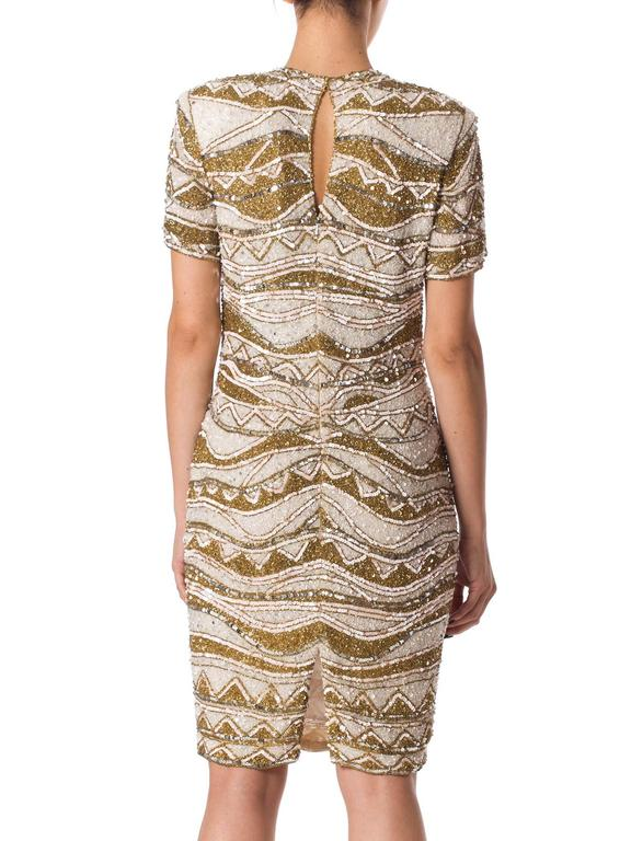 Naeem Khan Bead Encrusted Cocktail Dress In Excellent Condition For Sale In New York, NY