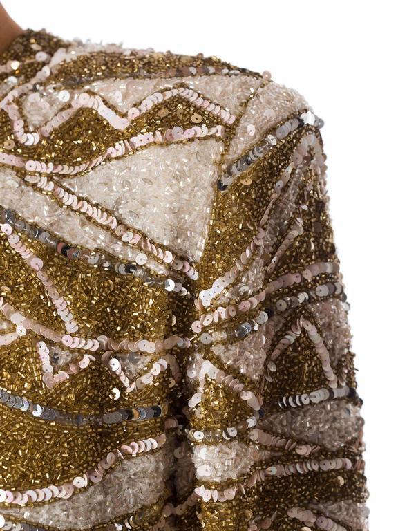 Naeem Khan Bead Encrusted Cocktail Dress For Sale 3