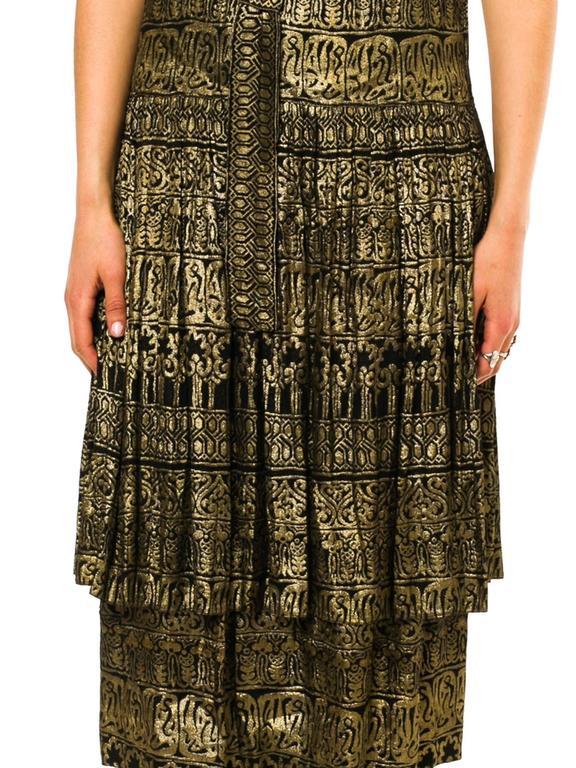 1920s Lamé Dress with Sanskirt For Sale 1