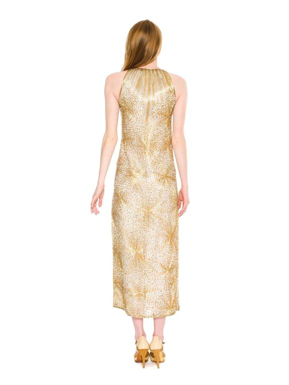 Halston Beaded Firecracker Gown In Good Condition For Sale In New York, NY