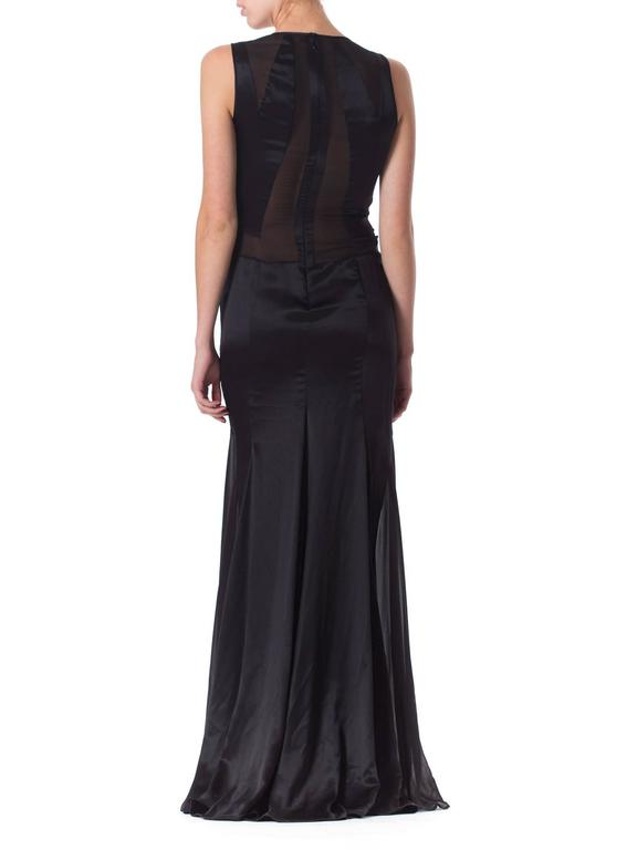Versace Sheer Paneled Gown 5