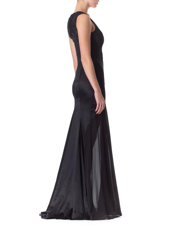 Versace Sheer Paneled Gown 6
