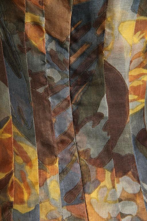 Pauline Trigere Silk Organza Dress  For Sale 4