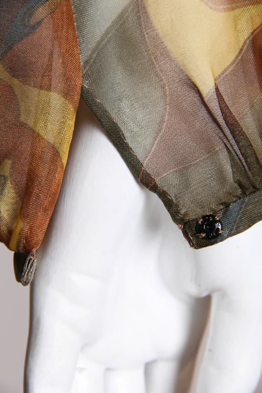 Pauline Trigere Silk Organza Dress  For Sale 3