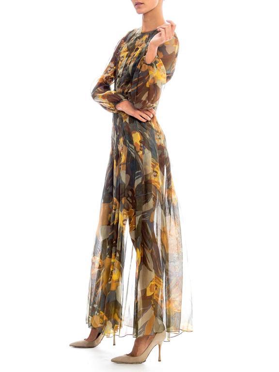 Women's Pauline Trigere Silk Organza Dress  For Sale