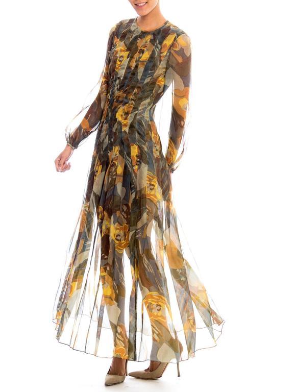 Pauline Trigere Silk Organza Dress  For Sale 1