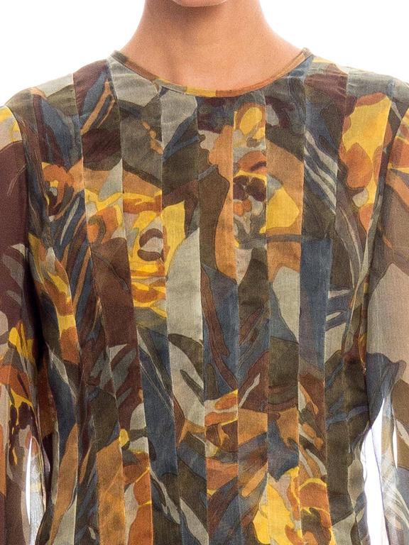 Pauline Trigere Silk Organza Dress  For Sale 2