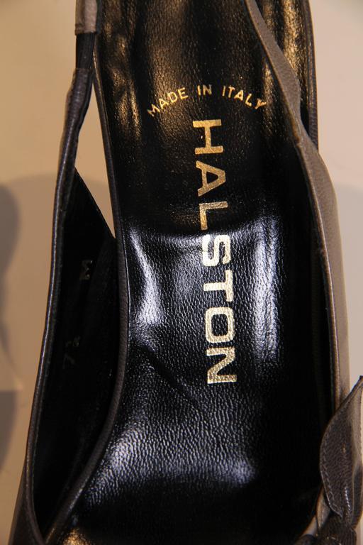 1970s Halston Peep-toe Heels 6