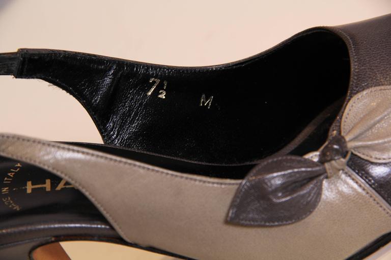 1970s Halston Peep-toe Heels 5