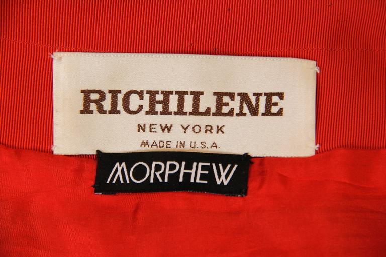 1970s Richilene Silk Plaid Dress For Sale 5